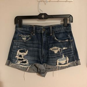 Abercrombie & fitch high waisted jean shorts